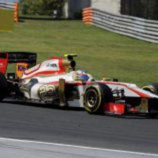 Narain Karthikeyan afronta otro giro en el GP de Hungria 2012