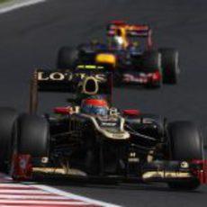 Romain Grosjean estuvo cerca de los líderes en Hungría