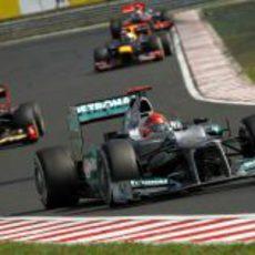 Michael Schumacher tuvo una carrera para olvidar en Hungría