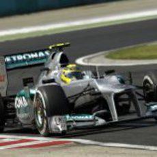 Nico Rosberg consiguió sumar un punto en Hungaroring