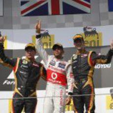 Dos Lotus en el podio de Hungría 2012