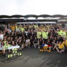 Lotus celebra sus dos podios en Hungría 2012