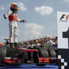 Lewis Hamilton fue el número 1 en Hungría