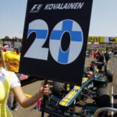 El cartel de Heikki Kovalainen