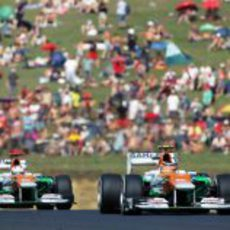 Nico Hülkenberg y Paul di Resta ruedan en Hungaroring