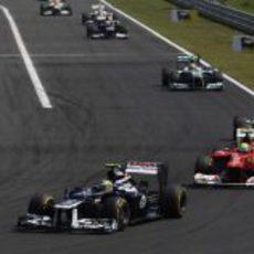 Bruno Senna rueda en la zona de puntos