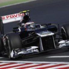 Valtteri Bottas rueda en los Libres 1 del GP de Hungría 2012