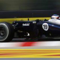 Valtteri Bottas volvió a suvirse a FW34 en Hungría