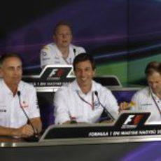 Toto Wolff, protagonista de la rueda de prensa de la FIA