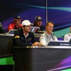 Rueda de prensa de la FIA del jueves en Bélgica 2012
