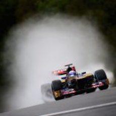 Daniel Ricciardo en los libres del GP de Bélgica 2012