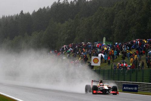 Dani Clos rueda en los Libres 1 del GP de Bélgica 2012
