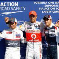 Jenson Button, Kamui Kobayashi y Pastor Maldonado los mejores en la clasificación de Spa