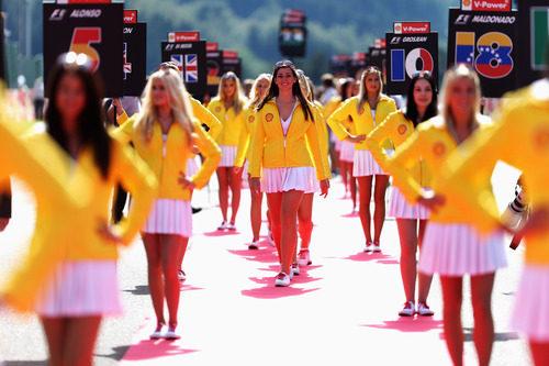 Las 'pit babes' del GP de Bélgica 2012