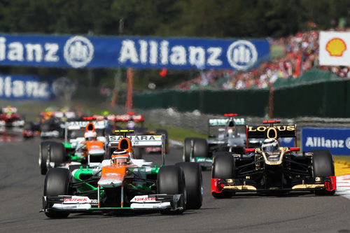 Los Force India se aprovechan de los incidentes