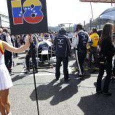 La 'pitbabe' de Pastor Maldonado