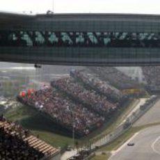 Las gradas del GP de China