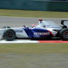 Kubica durante la sesión de clasificación