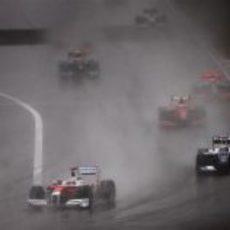 Trulli y Rosberg