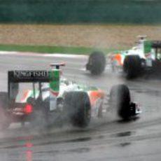 Los dos Force India en China