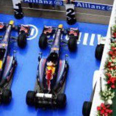 Los dos monoplazas de Red Bull