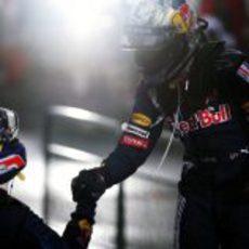 Los dos pilotos de Red Bull