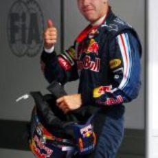 Vettel contento con su tercer puesto