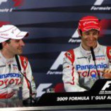Glock y Trulli en la conferencia de prensa
