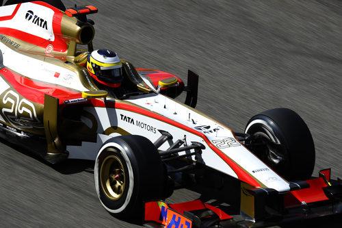 Pedro de la Rosa rueda en el Gran Premio de Bélgica