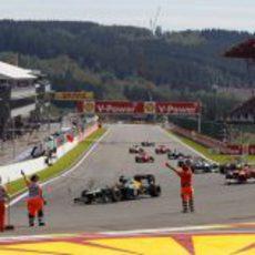 El Gran Premio de Bélgica se termina