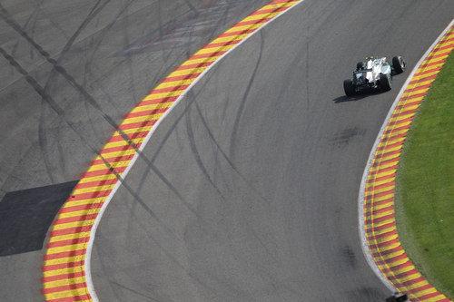 Eau Rouge recibe a Nico Rosberg