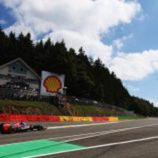 Daniel Ricciardo, desde el interior de Eau Rouge