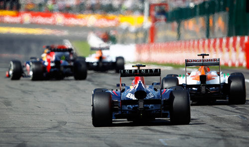 Force India retrasa a Red Bull