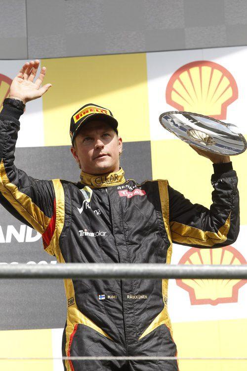 Kimi Räikkönen, en el podio