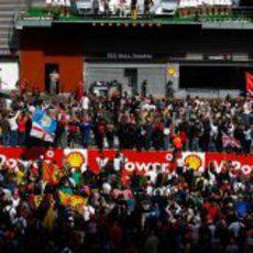 Entrevistas en el podio del GP de Bélgica 2012