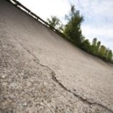 Detalle del óvalo antiguo de Monza