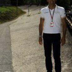 Pedro de la Rosa en el óvalo de Monza