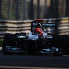 Michael Schumacher en los libres 1 del GP de Italia 2012