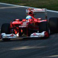 Fernando Alonso en los libres del GP de Italia 2012