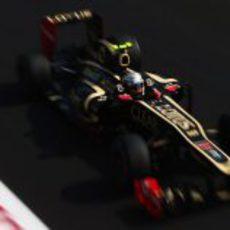 Jérôme D'Ambrosio rueda con el Lotus en Monza 2012