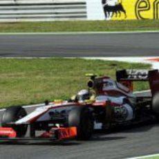Ma Qing Hua rueda en los libres 1 del GP de Italia 2012