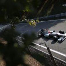 Michael Schumacher durante los entrenamientos libres del GP de italia