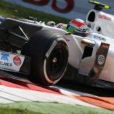 Sergio Pérez no tuvo mucho ritmo en los Libres 1 de Monza