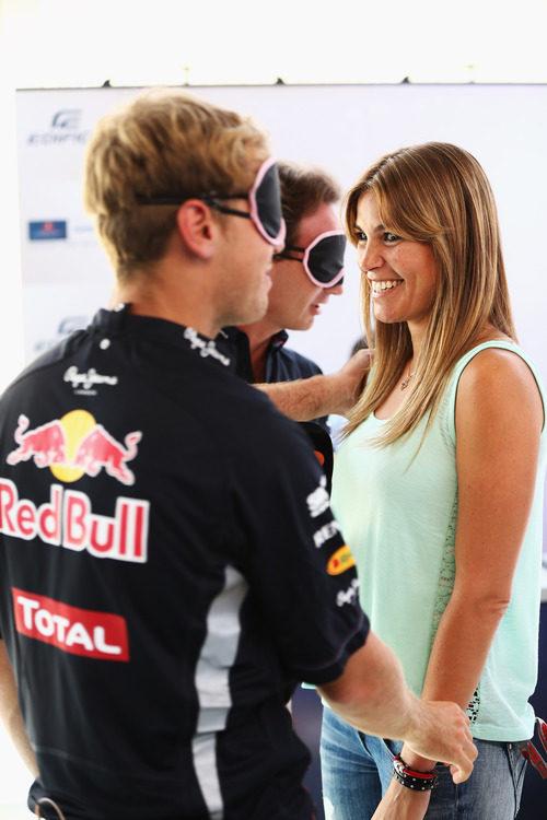 Nira Juanco, encantada con Sebastian Vettel