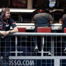 James Key estrena muro en Toro Rosso