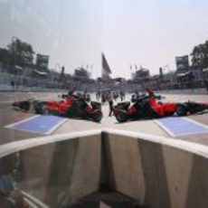 El reflejo del pitlane de Monza