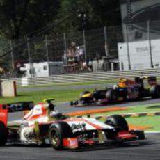 Ma Qing Hua y Sebastian Vettel