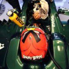Heikki Kovalainen espera para salir a pista