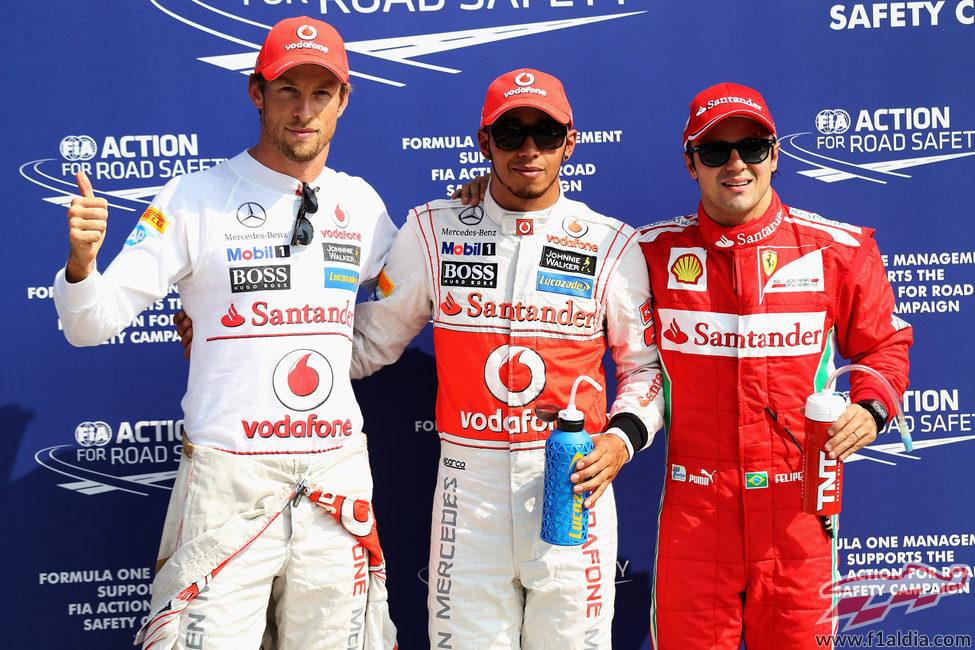 Hamilton, Button y Massa los más rápidos en la clasificación de Italia 2012