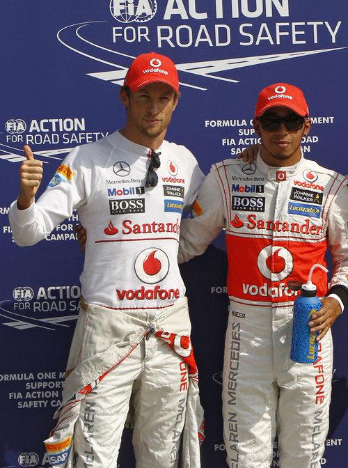 Doblete de McLaren en la clasificación de Italia 2012